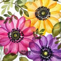 Lovely floral watercolour painting by Jeannie Dickson