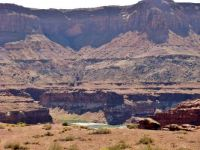 The Colorado River Flowing Into Lake Powell At Hite's Crossing