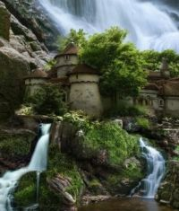 Waterfall Casle Poland