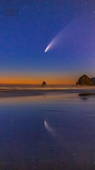 Neowise Comet over the Oregon Coast
