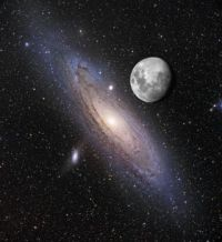 m31 and moon