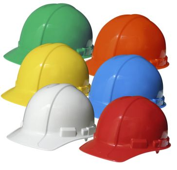 colored hard hats