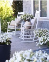 a white porch