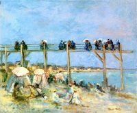The Beach at Sainte Adresse, 1902, Raoul Dufy (1877-1953)