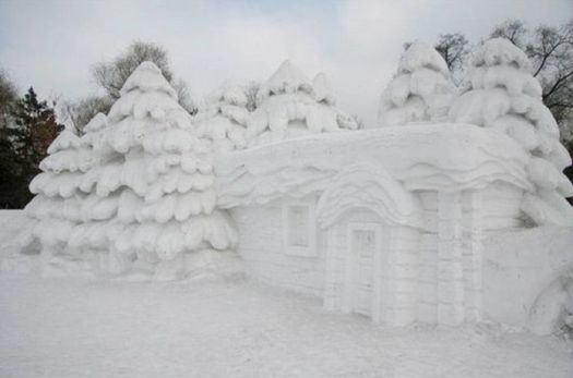 Quebec Winter Carnival 2012, Snow sculpture 3