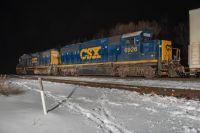 CSX train D700(local turn) arrives Hartford, Michigan January 28, 2021