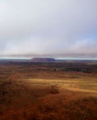 Uluru with a little Sun Light shining through..