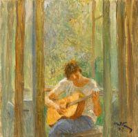 The Artist's Granddaughter on the Balcony, 1997, Tetyana Yablonska (1917 - 2005)
