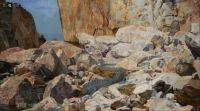 Karl Mediz (Austrian, 1868–1945), Dragon on a Rocky Shore (1891)