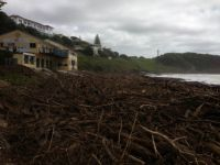 Main Beach Yamba after the flood