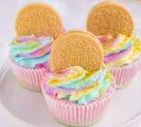Unicorn mini cheesecakes