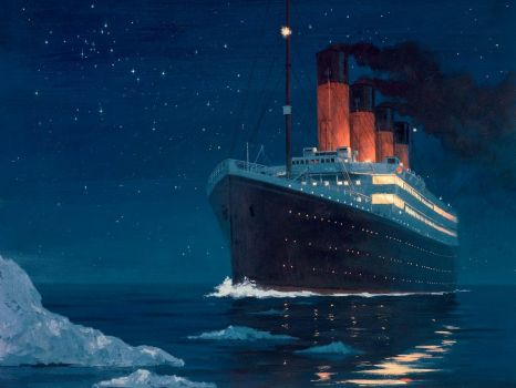 Titanic-Hitting-The-Iceberg
