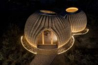 The world's first 3D printed home made entirely of clay located near Bologna, Italy