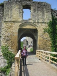 Gate at the ruins of Helmsley Castle, Yorkshire, England