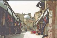 A94 Another view in Arab Quarter, in Old Walled City in Jerusalem, 1994 Israel trip