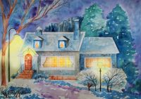 House on a winter's night