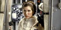 Young Carrie Fisher as Princess Leia in The Empire Strikes Back (2)