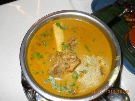 Indian fare - Mutton Soup