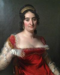 1817 Jérôme-Martin Langlois Lady in red wearing a tiara