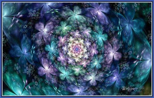Flowers and Butterflies Spiral
