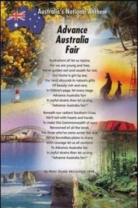 Australia's National Anthem, AUSTRALIA DAY, 26th January