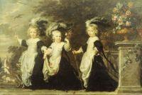 Alexander IV Goubau, Lord of Mespelaere, (1658-1712), Joannes V Cornelis Goubau, (1660-1702), and Maria-Aldegonda Goubau