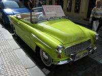 classic skoda convertible in Prague