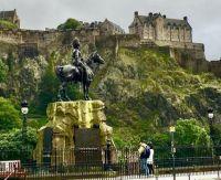 Royal Scots Greys Memorial, and Edinburgh Castle