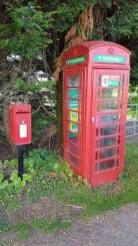 Telephone Box defibrillator, Pen-y-cefn, Caerwys, Wales UK