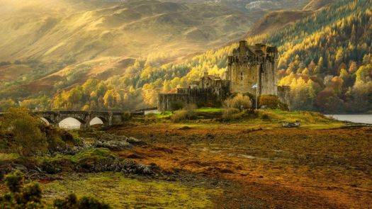 Eilean Donan castle on island in Loch Duich, western Highlands of Scotland