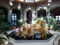 Dale Chihuly glass in Atrium at Biltmore House
