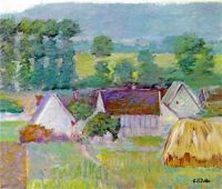 Theodore Earl Butler--Farmhouses in Autumn, Giverny