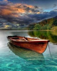 Resting on the calm water