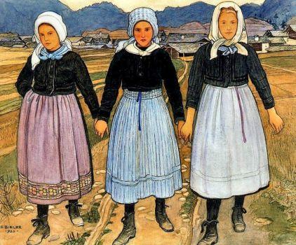 Three Women of Savièse, 1920  Ernest Bieler