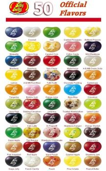 Jelly Belly Flavor Chart Small