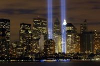 "The ""Tribute in Light"" memorial is in remembrance of the events of Sept. 11, 2001"