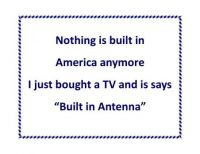 Thought of the Day: Built in Antenna
