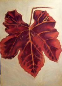 Fall grape leaf