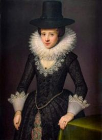 Portrait of Anna Boudaen Courten (1599-1622)