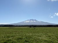 Mt Ruapehu (English phonetics Rroo ah pair hoo)