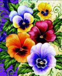 Pleasant Pansies #16