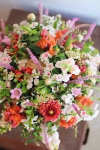 Happiness is….Coral and Pink Bridal Bouquet.