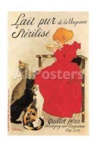 French Milk Poster by Théophile Alexandre Steinlen