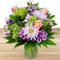 Happiness  is.... Uniquely Chic Floral Gift.