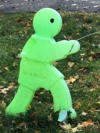 Scary little green man