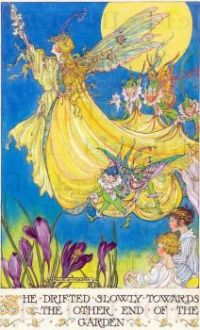 Yellow garden fairy