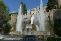 The fountain of Neptune, Tivoli, Rome