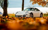 porsche-911-white-autumn.