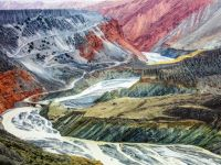 Colorful Landscape, Tian Shan, China