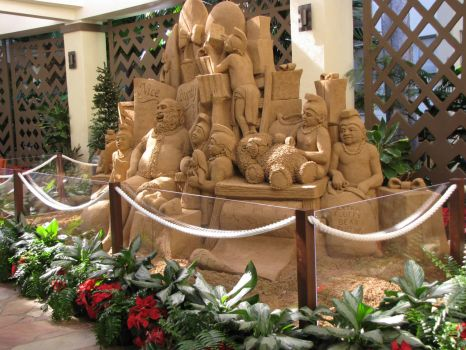 A Sand Sculpture in the Waikiki Sheraton